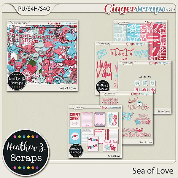 Sea of Love BUNDLE by Heather Z Scraps