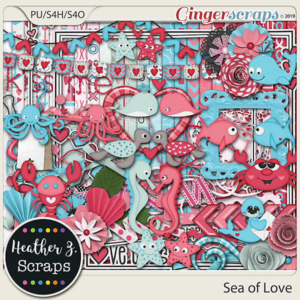 Sea of Love KIT by Heather Z Scraps