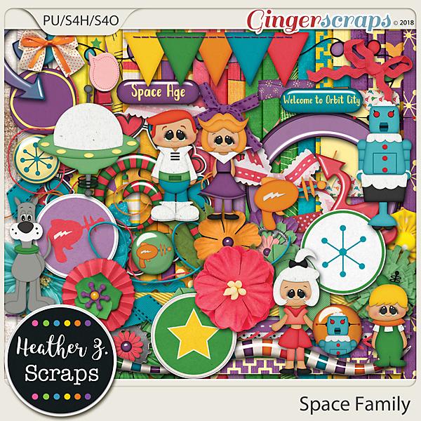 Space Family KIT by Heather Z Scraps