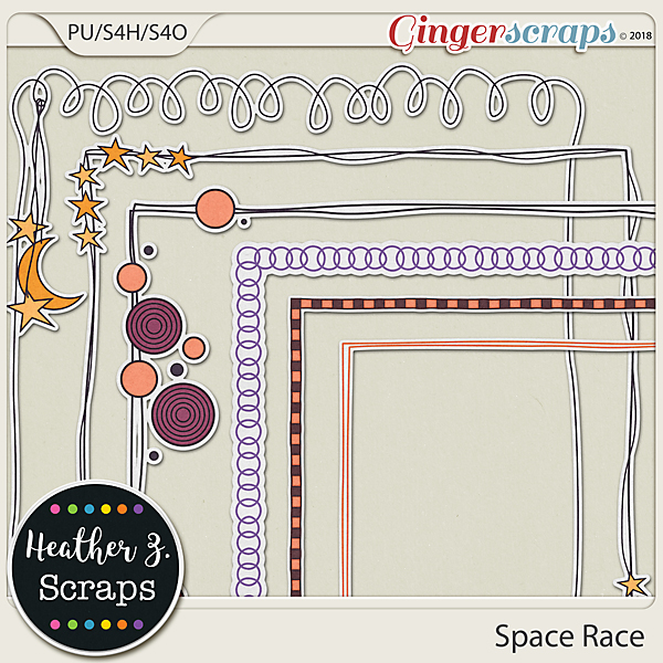 Space Race BORDERS by Heather Z Scraps