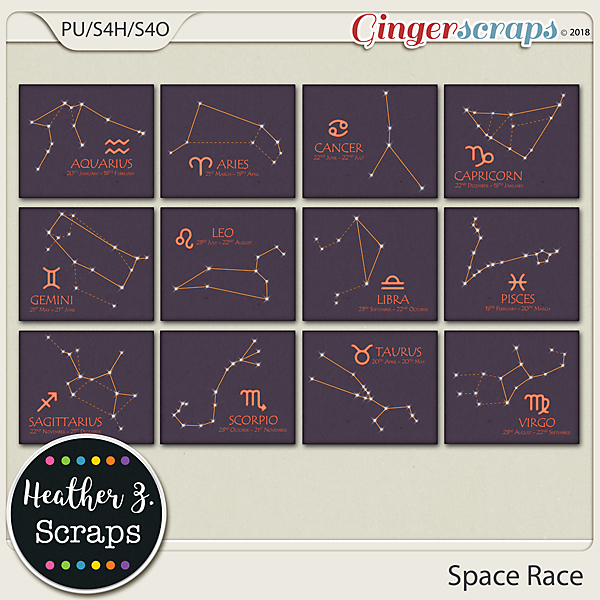 Space Race CONSTELLATIONS by Heather Z Scraps