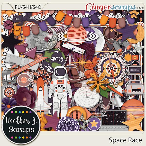 Space Race KIT by Heather Z Scraps