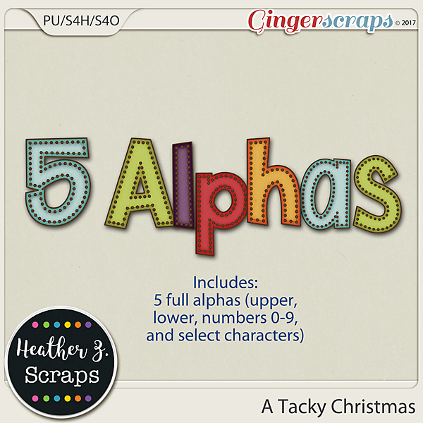 A Tacky Christmas ALPHABETS by Heather Z Scraps