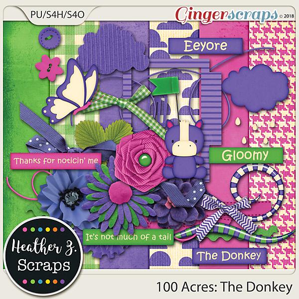 100 Acres THE DONKEY MINI KIT by Heather Z Scraps
