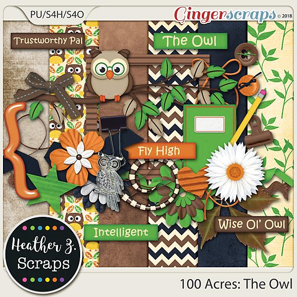100 Acres THE OWL MINI KIT by Heather Z Scraps