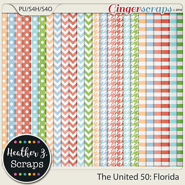 The United 50: Florida EXTRA PAPERS by Heather Z Scraps