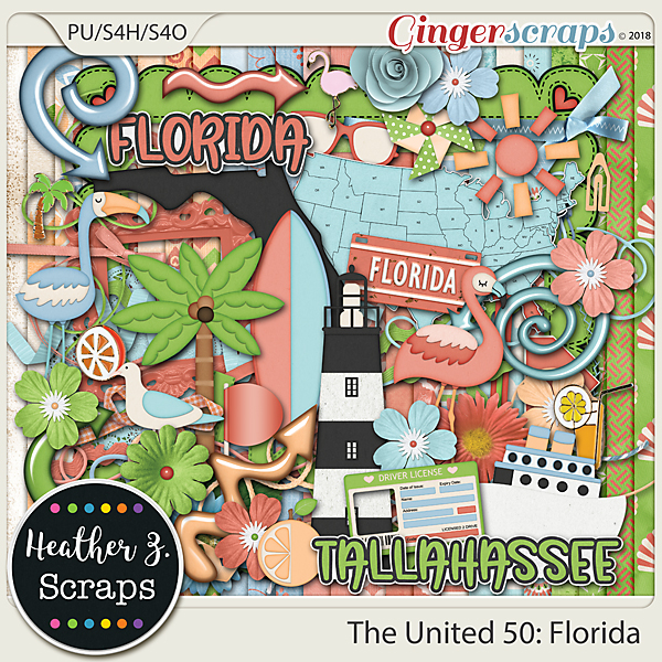 The United 50: Florida KIT by Heather Z Scraps