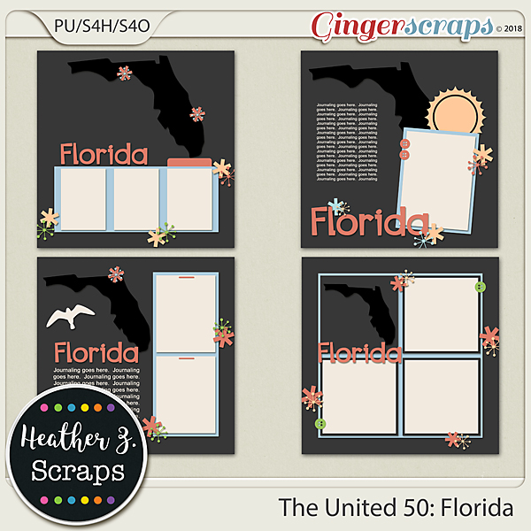The United 50: Florida TEMPLATES by Heather Z Scraps