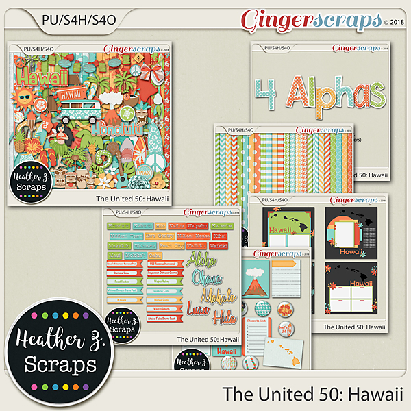 The United 50: Hawaii BUNDLE by Heather Z Scraps