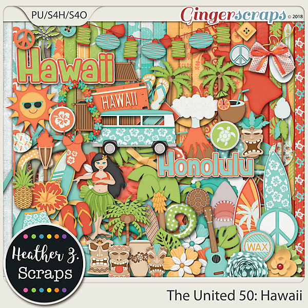 The United 50: Hawaii KIT by Heather Z Scraps