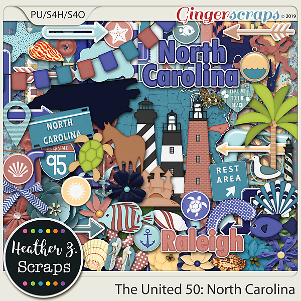 The United 50: North Carolina KIT by Heather Z Scraps
