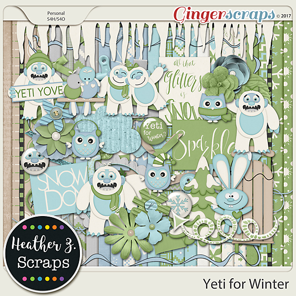Yeti for Winter KIT by Heather Z Scraps
