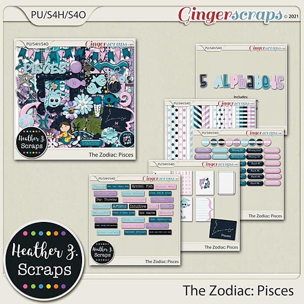 The Zodiac: Pisces BUNDLE by Heather Z Scraps