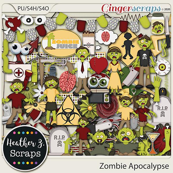 Zombie Apocalypse ELEMENTS by Heather Z Scraps