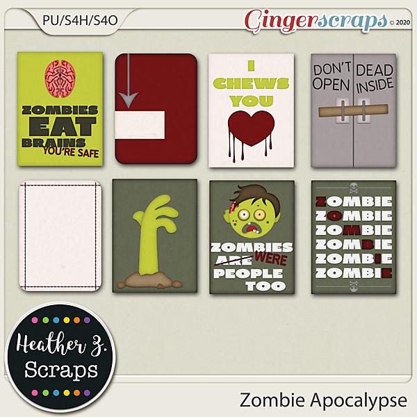 Zombie Apocalypse JOURNAL CARDS by Heather Z Scraps