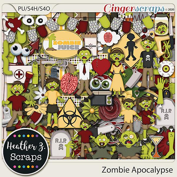 Zombie Apocalypse KIT by Heather Z Scraps