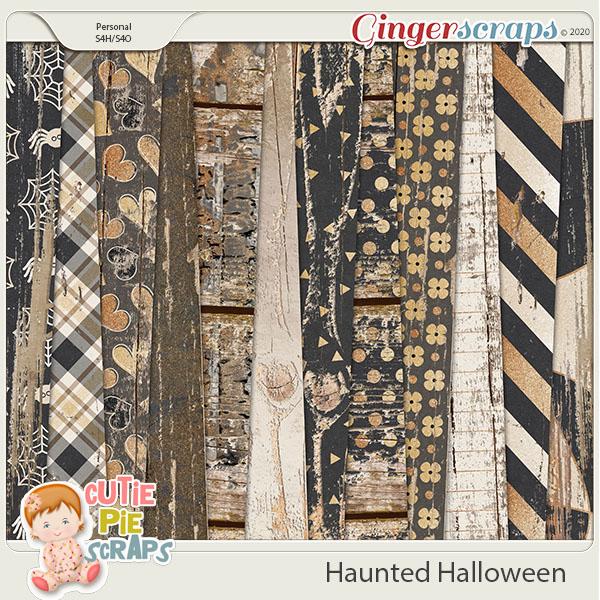 Haunted Halloween Wood Papers