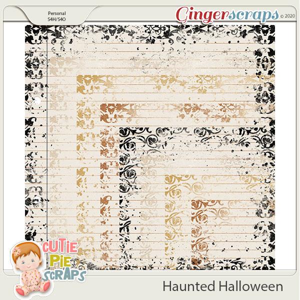 Haunted Halloween Messy Border