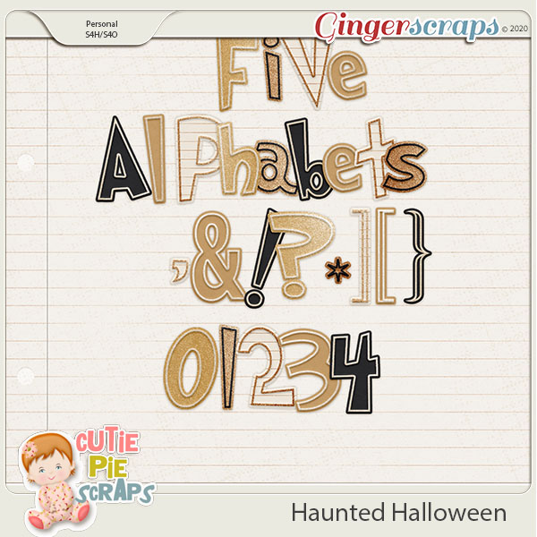Haunted Halloween Alphabets