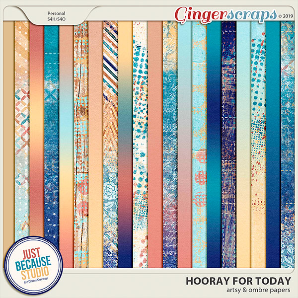 Hooray For Today Artsy & Ombré Papers by JB Studio