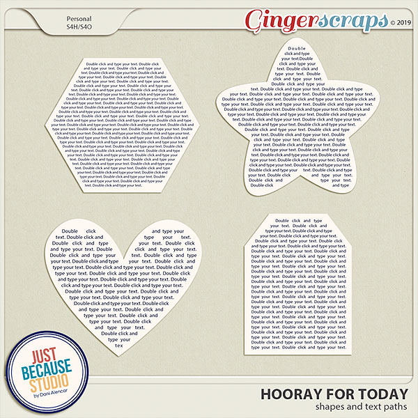 Hooray For Today Text Paths by JB Studio