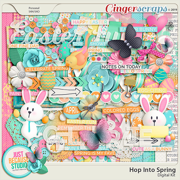 Hop Into Spring Page Kit by JB Studio
