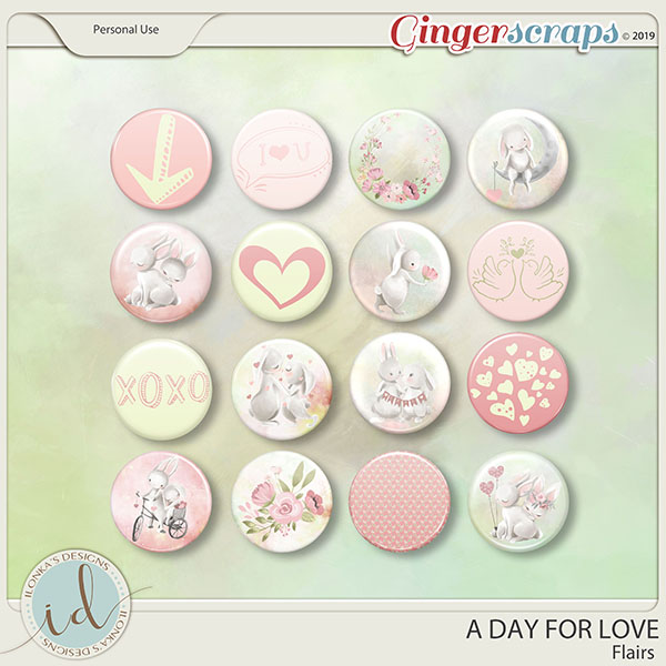 A Day For Love Flairs by Ilonka's Designs
