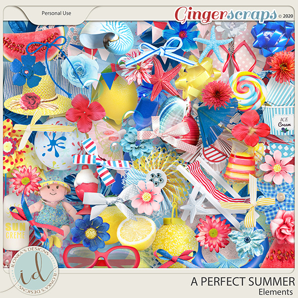 A Perfect Summer Elements by Ilonka's Designs