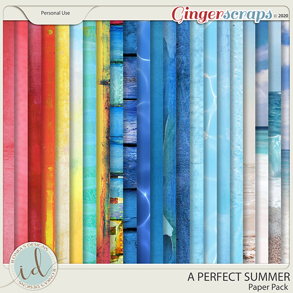 A Perfect Summer Paper Pack by Ilonka's Designs