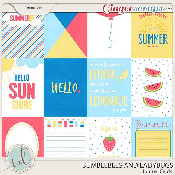 A Perfect Summer Journal Cards by Ilonka's Designs