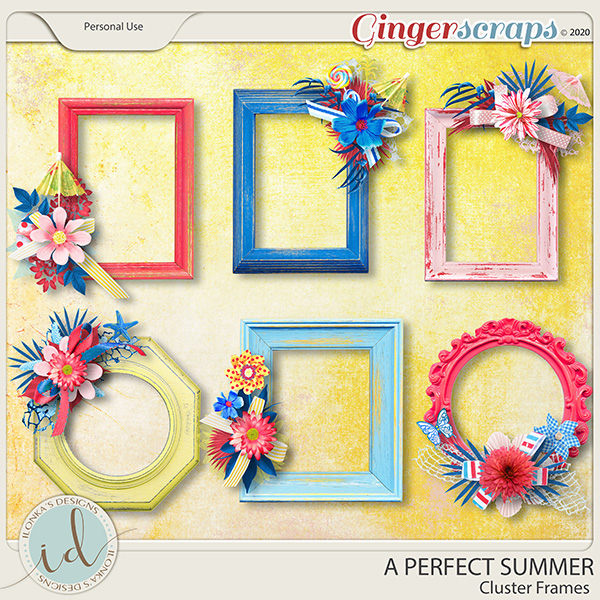 A Perfect Summer Cluster Frames by Ilonka's Designs