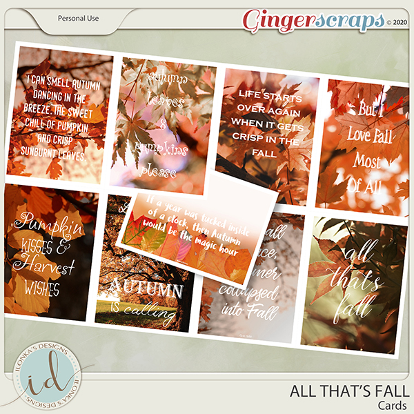 All That's Falll Cards by Ilonka's Designs