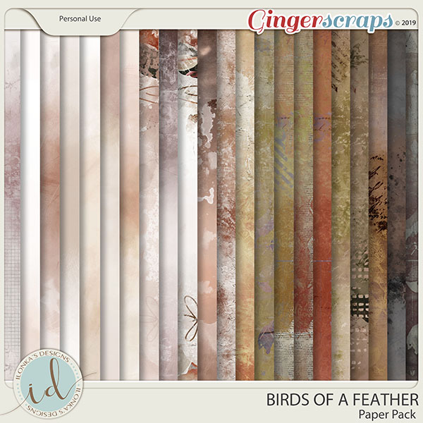 Birds Of A Feather Paper Pack by Ilonka's Designs