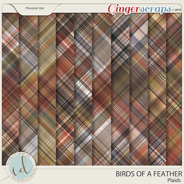 Birds Of A Feather Plaids by Ilonka's Designs
