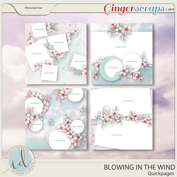 Blowing In The Wind Quickpages by Ilonka's Designs