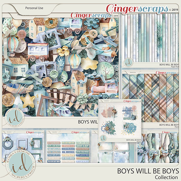 Boys Will Be Boys Collection by Ilonka's Designs