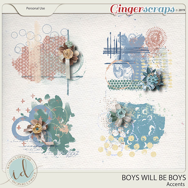 Boys Will Be Boys Accents by Ilonka's Designs