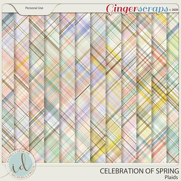 Celebration Of Spring Plaids by Ilonka's Designs