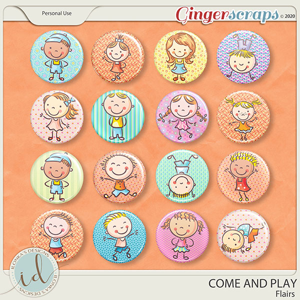 Come And Play Flairs by Ilonka's Designs