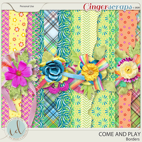 Come And Play Borders by Ilonka's Designs