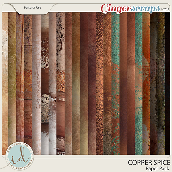 Copper Spice Paper Pack by Ilonka's Designs