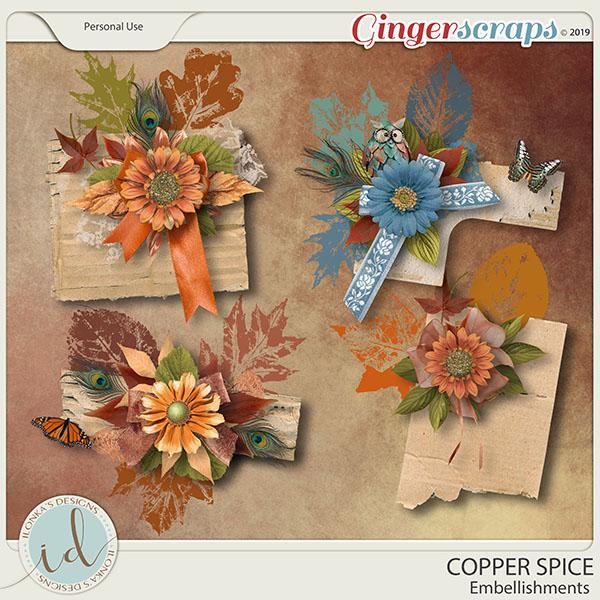 Copper Spice Embellishments by Ilonka's Designs