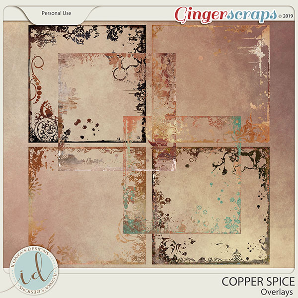 Copper Spice Overlays by Ilonka's Designs