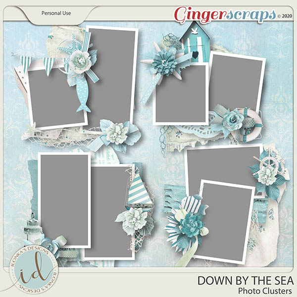Down By The Sea Photo Clusters by Ilonka's Designs