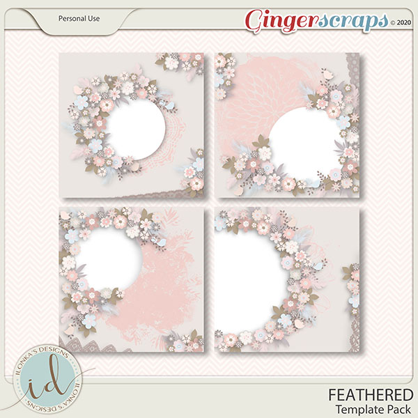 Feathered Template Pack by Ilonka's Designs