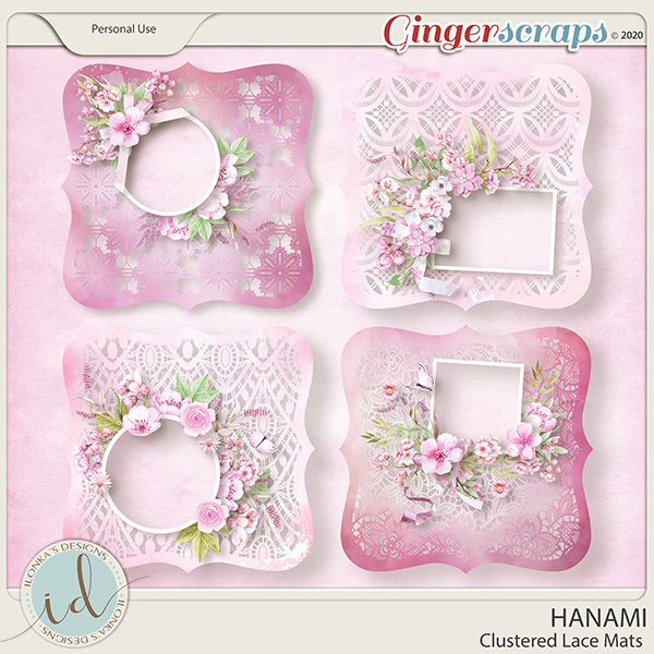 Hanami Clustered Lace Mats by Ilonka's Designs