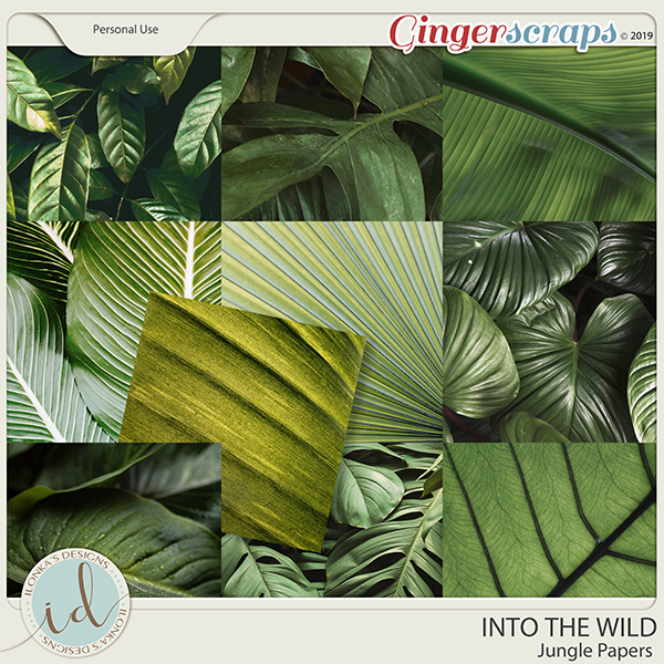 Into The Wild Jungle Papers by Ilonka's Designs