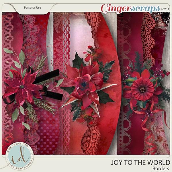 Joy To The World Borders by Ilonka's Designs