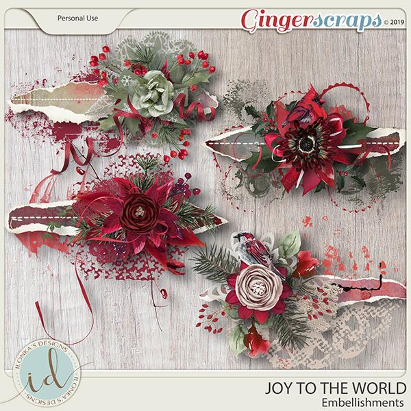 Joy To The World Embellishments by Ilonka's Designs