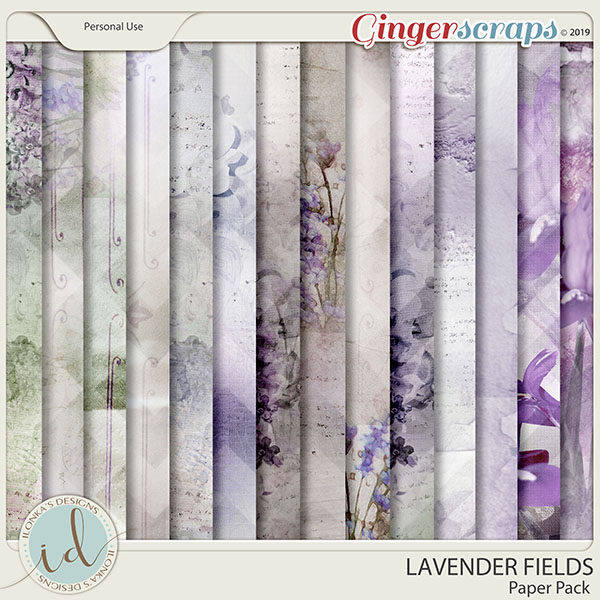 Lavender Fields Paper Pack by Ilonka's Designs